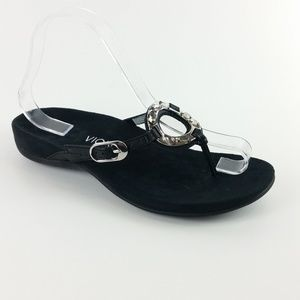 Vionic Black Jeweled Thong Sandal S14-10